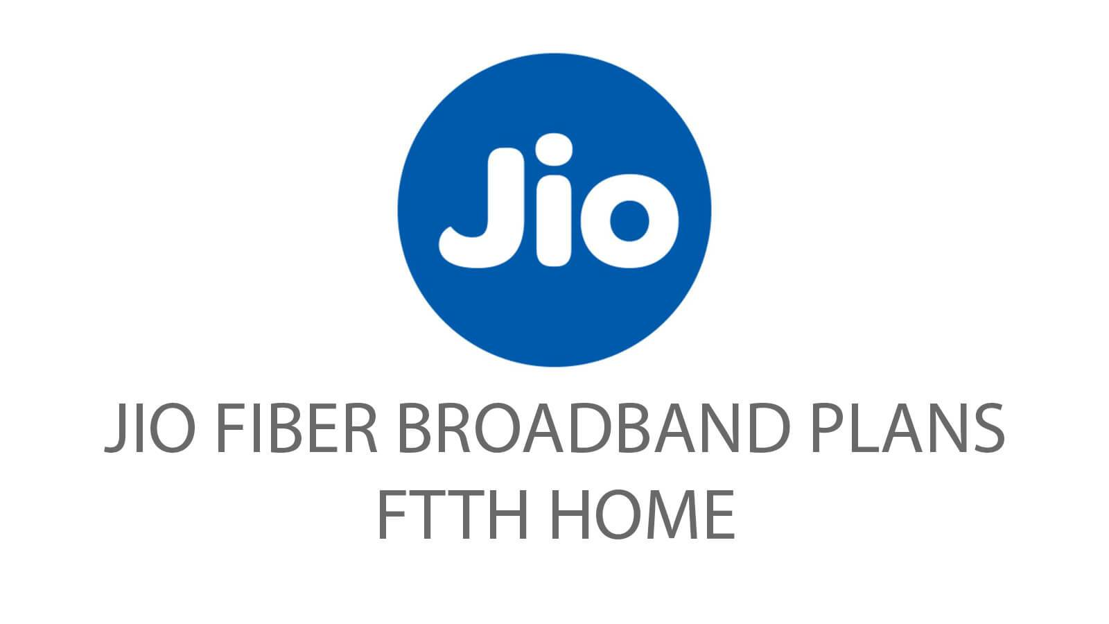 Jio Broadband Plan