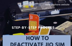 DEACTIVATE JIO SIM CARD